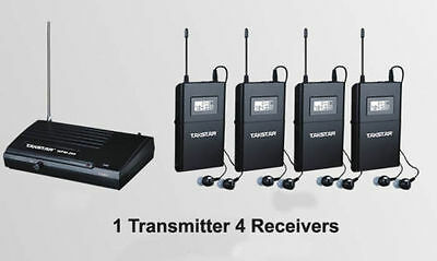 Takstar WPM-200 Stereo In-Ear Wireless Monitor System 1 Transmitter&4 H2