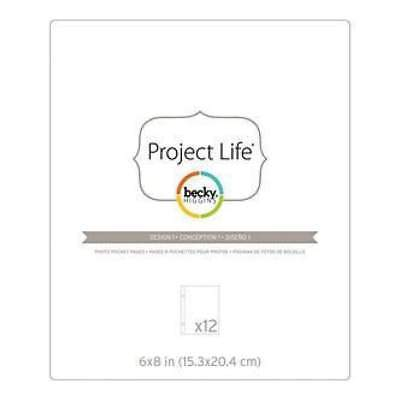 NEW Becky Higgins - Project Life Photo Pocket Pages 6X8in.  12/Pkgin.