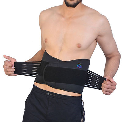 Back Support Lumber Belt Brace 20 Magnet Lower Back Double Pull Pain Relief