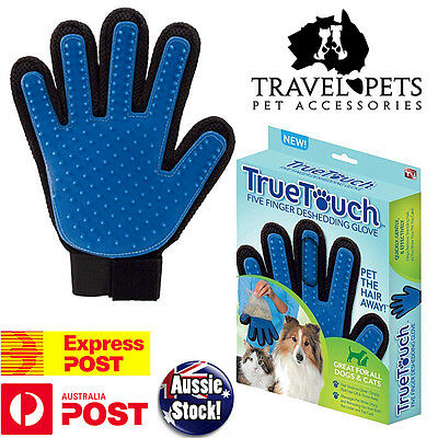 True Touch Deshedding Glove TrueTouch Gentle Pet Care Dog Cat Horse Grooming