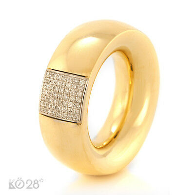 Ring Massiv made by Menze 750/- Gelbgold 56 Brillanten 0,21 ct., Gr. 54 (21186)