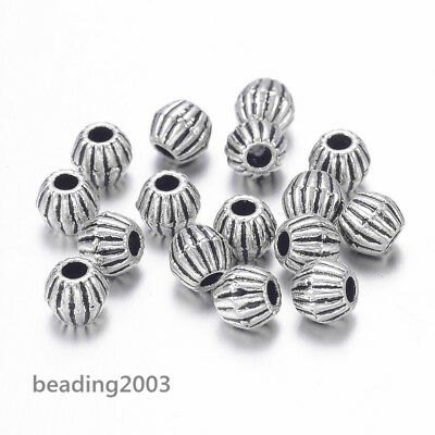 100pcs Antique Silver Tibetan Style Bicone Spacer Beads Jewellery Findings 4mm