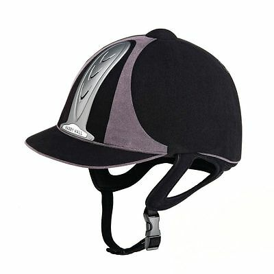 *CLEARANCE* Harry Hall Legend PAS015 Riding Hat - Black/Grey - RRP £95.00