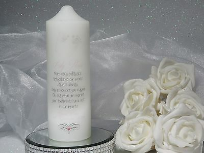~ Personalised Candle ~ Miscarriage, Stillbirth, Loss baby/child, Memorial - S41