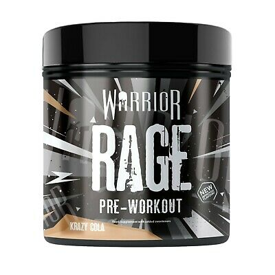 All New Warrior Rage Pre Workout Powder 45 Servings Strong Pump - Killa Cola