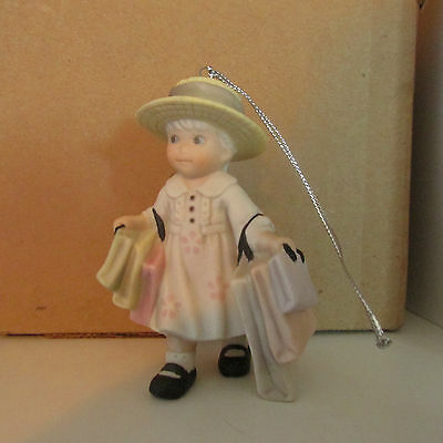 Kim Anderson Ornament Girl with Shopping Bags 375977 Free Shipping 1998