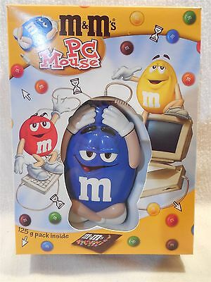 Vintage 2000 M&M's Mr Blue PC Mouse European MIB