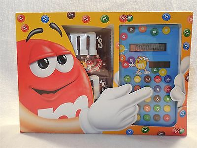 Vintage M&M's Blue Square Solar Calculator European MIB
