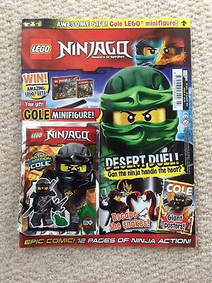 Lego Ninjago Magazine August Issue with Cole Figure