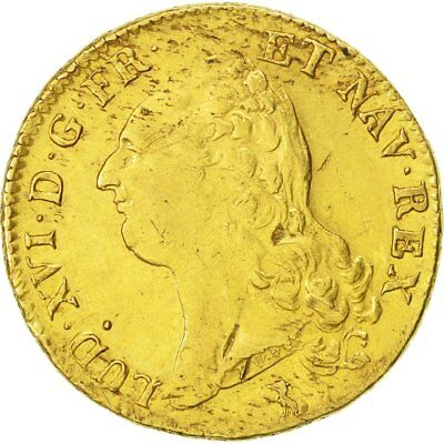 [#471526] France, Louis XVI, Double louis d'or à la tête nue, 1786 Nantes