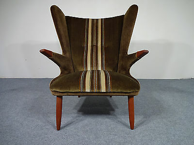 Sofa daybed 60er jahre teak danish vintage sofa sessel for Ohrensessel 70er
