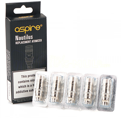 Genuine Aspire Nautilus /Mini BVC Replacement Coils - 1.8 Ohm (5 Pack)