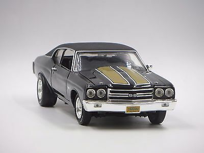 Ertl 1970 Chevy Chevelle Ss 454 1:18 Die Cast Black Gold Car Limited 363/5000!