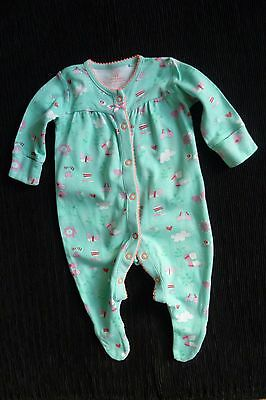 Baby clothes GIRL 0-3m NEXT turquoise butterflies babygrow 2nd item post-free!