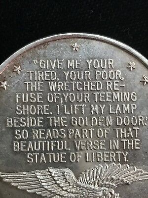.999 Fine Silver Statue Of Liberty Give Me Your Tired Your Poor 1 Troy Oz Round