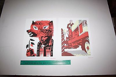 TWO 2 Screen Print Posters from the 2007 Pearl Jam vs Ames Book 9x12 ART