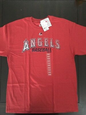 894c40dbb Brand New Large Los Angeles Angels Of Anaheim T Shirt Red Majestic Genuine  Mlb