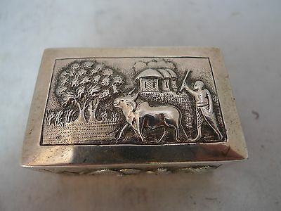 Antique Indian Silver Box 92g A609717