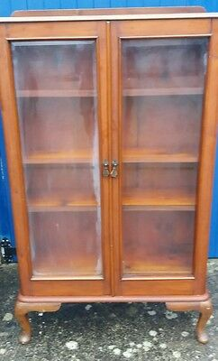 Sunning Antique Victorian Glazed  Display Cabinet 3 Shelves Over 4 Drawers