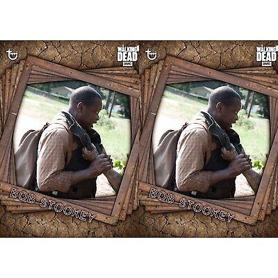 2x TRAPPED MARATHON BOB STOOKEY The Walking Dead Card Trader Digital