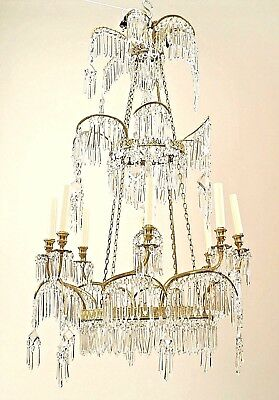 Russian (1st ¼ 19th Cent.) Crystal & Gilt Bronze Chandeliers