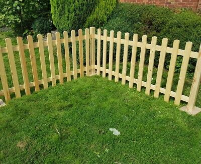 Freestanding Event Portable Picket Fence round top picket fence panels 2ft Tall