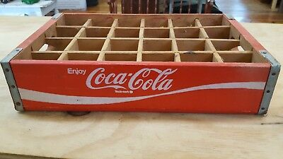 Vintage Red 24 Slot Coca Cola Crate Near Mint Condition