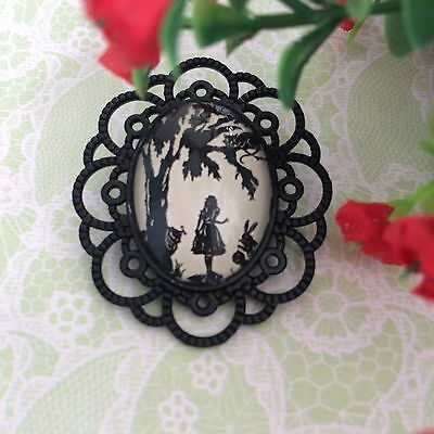 Alice In Wonderland/ Cheshire Cat Vintage Style Brooch /pin /Rockabilly Retro