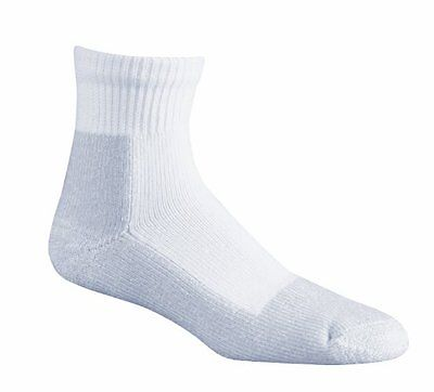 Fox River Wick Dry Athletic Quarter Crew Socks, 2-Pack, White, New, MPN 1191
