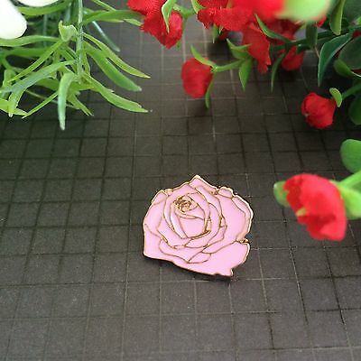 Retro Vintage Pink Rose Enamel Pin/Lapel/ Brooch Backpack/Jewelry
