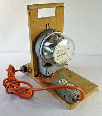Homemade Power Measure With GE Watthour Meter Type 1-50-A Steampunk Works