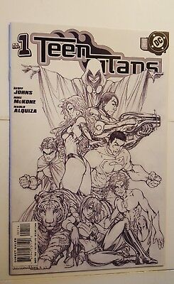 Teen Titans #1 DC Comics 2003 4th Print Michael Turner Sketch Cover