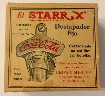 "Rare Coca Cola Collectable Starr ""X"" Cast Iron Metal Spanish Bottle Opener"