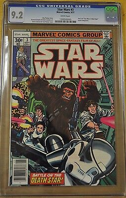 Star Wars #3 Cgc 9.2 Nm- White Pages 1977 1St Appearance New Movie Jedi Movie