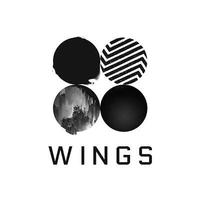 "Bts - Wings Wall Poster Bangtan Boys Kpop K-Pop 8X8"" 20X20"" 30X30"""