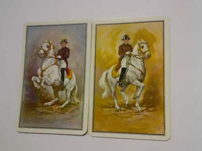 2 Single Swap/Playing Cards - Pair Man in Uniform on Horse