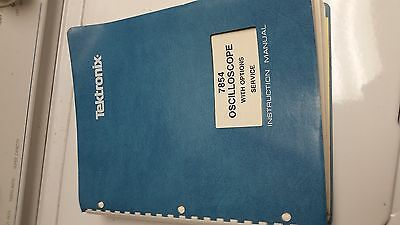 "tektronix 7854 oscilloscope manual instruction service schematics over 2"" thick"