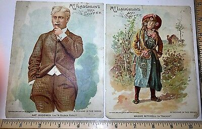 "Victorian trade cards Mc Laughlin's Coffee, lot of 2, 5 1/4 x 6 3/4""  as is • $4.00"