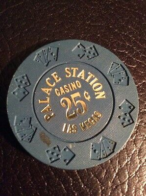 Palace Station 25 Cent Casino Chip- Obsolete- Excellent Condition