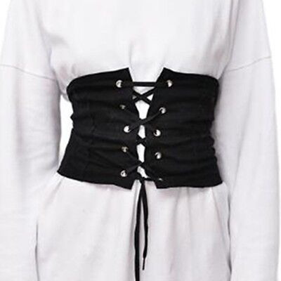 Womens Lady High Waist Wide Corset Elastic Slimming Abdominal Controler Belt AU