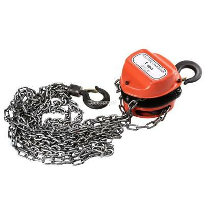1 Ton Chain Block Hoist Heavy Duty Tackle Engine Lifting Pulley UK CE