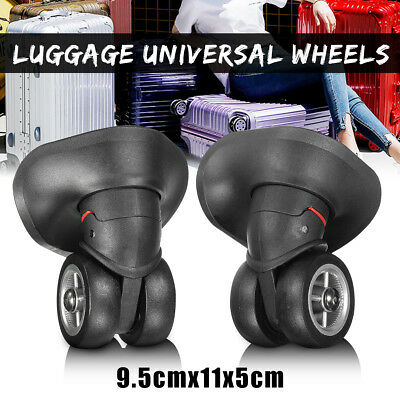 2pcs Travel Luggage Bags Suitcase Replacement Wheels 360° Removable Left&Right