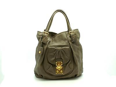 d9a357c9927 Snap Miu miu Vitello Shine Tote Bag in Brown black Lyst photos on ...
