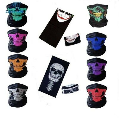 Skull Bandana Outdoor Bike Motorcycle Helmet Neck Face Mask Ski Headband AU