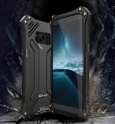 R-JUST Shockproof Metal Aluminum Heavy Duty Case Cover For Samsung S8 & S8 Plus