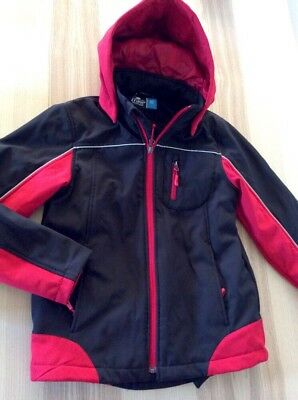 Boys or Girls Crane Snow Extreme Red & Black Hooded Jacket Winter New Size 10