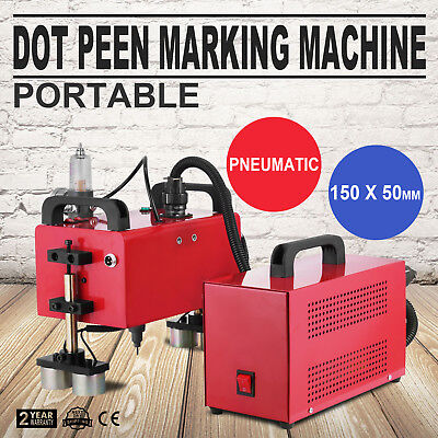 Portable Pneumatic Dot Peen Marking Machine 150 x 50mm Durable Pneumatic Valid
