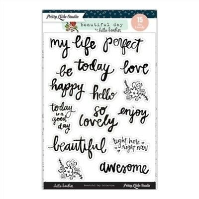 Pretty Little Studio Planner Stickers - Clear Word Stickers So Lovely Beautiful
