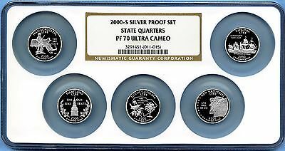 2000 S Silver State Quarters Set NGC PF70 Ultra Cameo - Multiholder