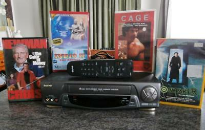 SANYO VCR  -  VHR-770 -   With Remote + VHS Movies